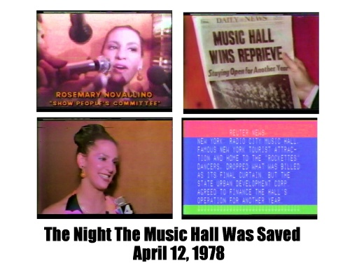 'The Night The Music Hall Was Saved, April 12, 1978'.