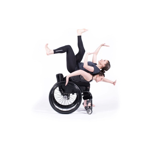 Meredith Aleigha Wells and Celina Speck of The Dancing Wheels Company in 'Od:yssey' choreographed by Marc Brew.