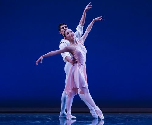 Yuka Oba-Muschiana and Josue Justiz in George Balanchine's 'Allegro Brillante'.