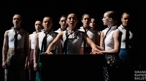 Grand Rapids Ballet's women in Penny Saunders' 'Testimony'.