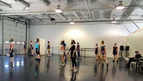 Verb Ballets' dancers back in the studio