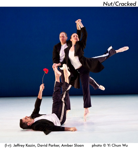 l-r: Jeffrey Kazin, David Parker and Amber Sloan in The Bang Group's 'Nut/Cracked'. Photo by Yi-Chun Wu.
