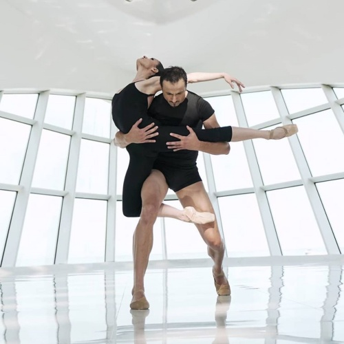 "Luz San Miguel and Davit Hovhannisyan in Diane Coburn Bruning's ""Berceuse""."