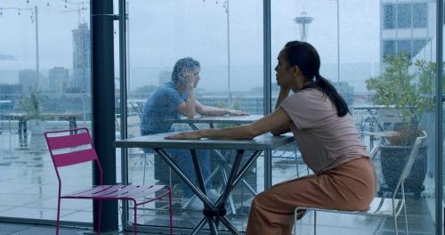 """Noelani Pantastico & James Yoichi Moore in """"The Space Between Us""""."""