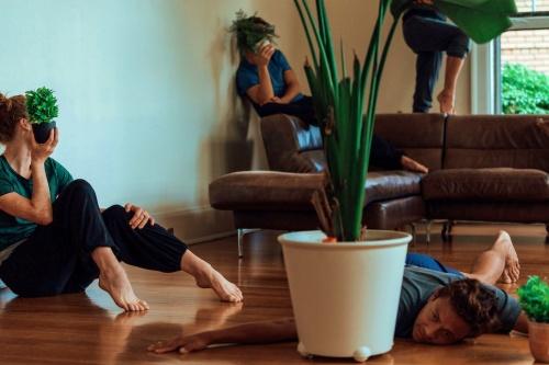 "Whim W'Him company dancers rehearsing Annabelle Lopez Ochoa's ""Grassville"" (sans costumes). Photo by Stefano Altamura."