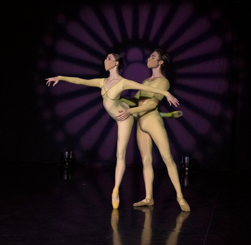 "Verb's Kelly Korfhage and Benjamin Sheppard in Heinz Poll's ""Adagio for Two Dancers""."