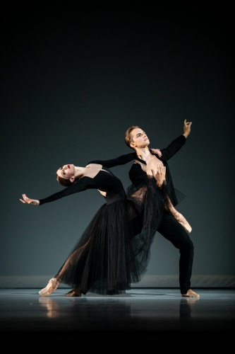 Elle Macy & Dylan Wald in Jessica Lang's 'Ghost Variations'.