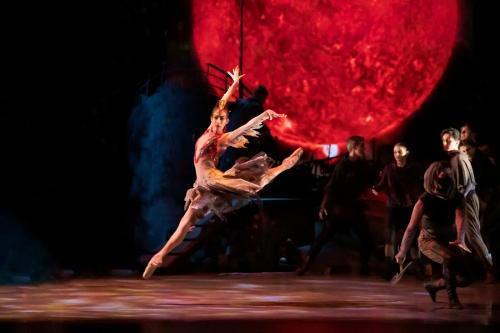 'The Firebird', by the Royal New Zealand Ballet, July 2021. Ana Gallardo Lobaina and dancers.