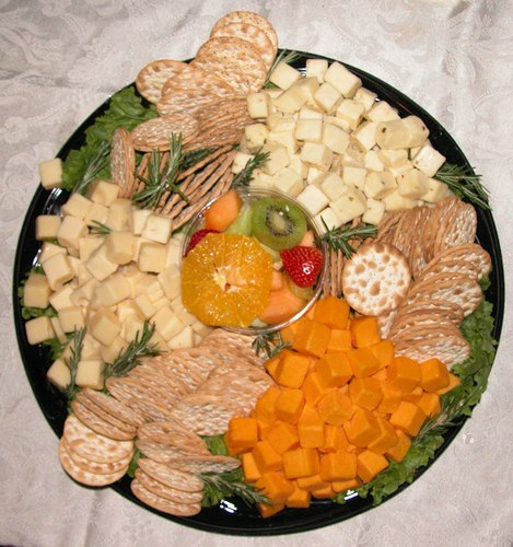 One of two Cheese and Crackers Platters from Ernest Klein & Co. International Supermarket that were donated to The A.W.A.R.D. Show by ExploreDance.com