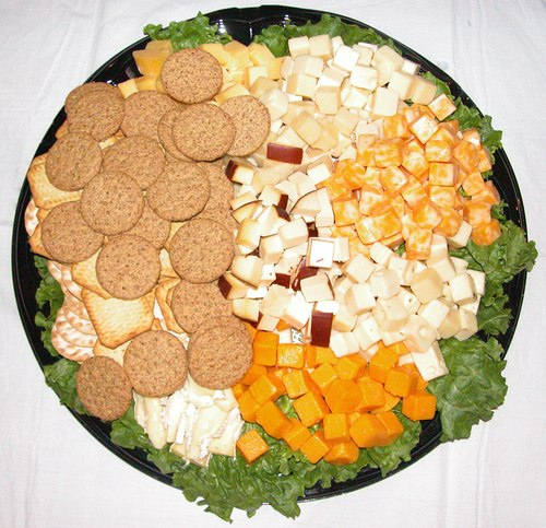 Cheese and Crackers Platter from Ernest Klein & Co. International Supermarket (<a href='http://www.ernestklein.net'>www.ErnestKlein.net</a>) donated by ExploreDance.com