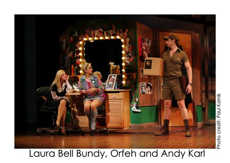 Laura Bell Bundy, Orfeh, and Andy Karl