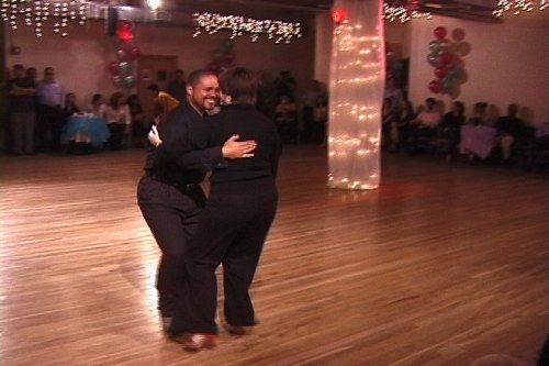 Alfredo Melendez and Susan Robinson perform a Milonga