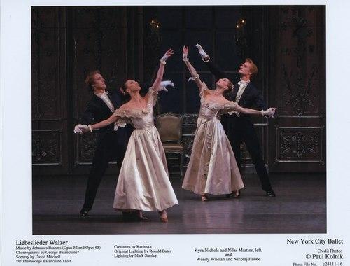 Kyra Nichols and Nilas Martins, Wendy Whelan and Nikolaj Hübbe in NYCB's Liebeslieder Walzer