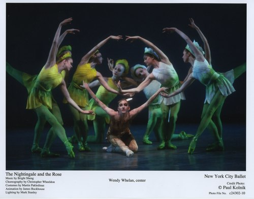 Wendy Whelan (center) in 'The Nightingale and the Rose' June 8, 2007 at the New York City Ballet