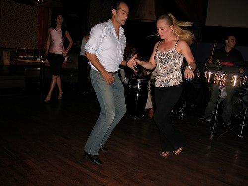Dancing at Taj