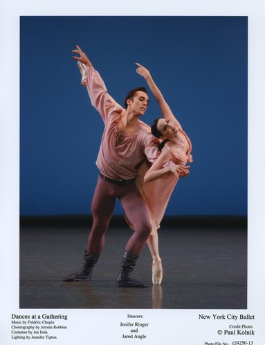 Jenifer Ringer and Jared Angle in 'Dances at a Gathering,' June 2, 2007 at the New York City Ballet.
