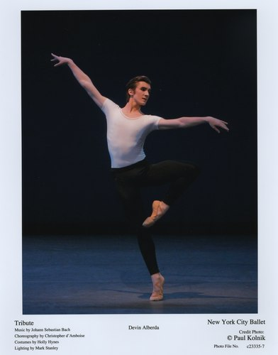 'Tribute' featuring Devin Alberda. June 9, 2007 at the New York City Ballet.