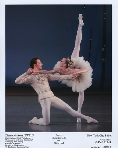 Maria Kowroski and Philip Neal dance together in 'Jewels' at the New York City Ballet. June 21, 2007.
