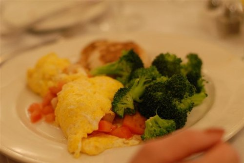 Roberta's Shrimp Omelet with Broccoli
