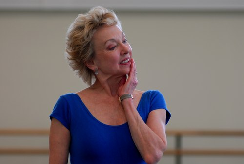 Suki Schorer in class at the School of American Ballet
