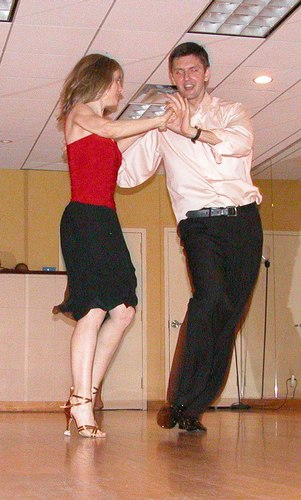 Donatas and Heather Edwards perform Salsa