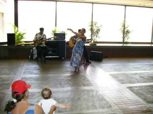 Hula Dancing at the Kahului Airport on Maui