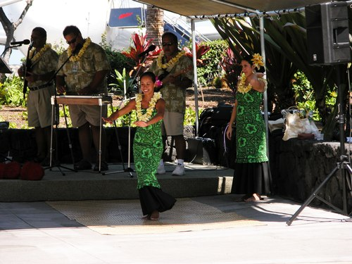 Hula Dancing at Keahole-Kona International Airport