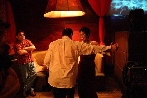 Talia dances at Taj Camera: ISO 6400, 1/80, 1.4