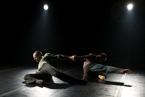 Cedar Lake Contemporary Ballet performs 'Ten Duets on a Theme of Rescue' by Crystal Pite. Dancers: Jason Kittelberger and Jubal Batisti