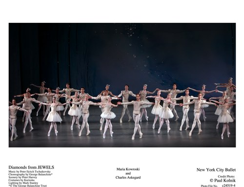 NYCB's Maria Kowroski and Charles Askegard in Diamonds from Jewels