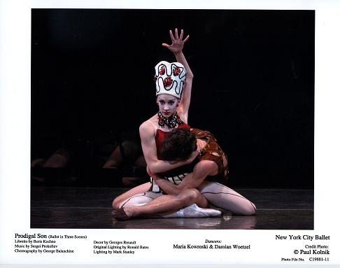 Damian Woetzel and Maria Kowroski in NYCB's 'Prodigal Son'