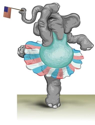 Ballet Elephant in Attitude Derriere