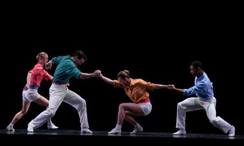 Twyla Tharp's Brahms Paganini Kansas City Ballet Dancers Deanna Hodges, Paris Wilcox, Caitlin Cooney & Lateef Williams