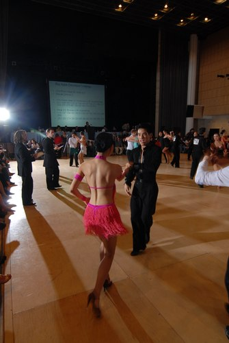 The Big Apple Dancesport Challenge Columbia University Ballroom Dance Team Session 9 International Latin: Gold Couple: Key Nguyen and Valerina Soo