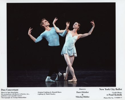 Darci Kistler and Nikolaj Hübbe in <i>Duo Concertant</i>