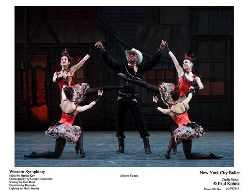 New York City Ballet's Albert Evans in Western Symphony