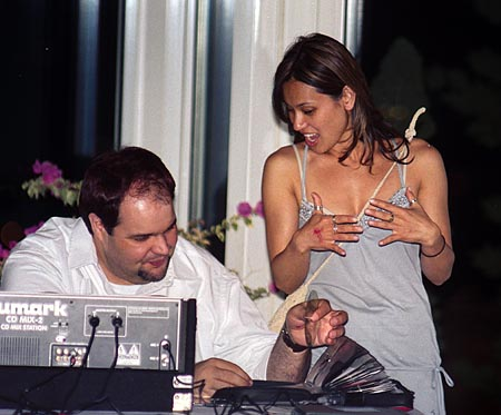 John Lindo, DJ, takes a request