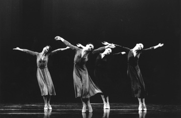 Karinne Guizzo, Sol Léon, Fiona Lummis and Cora Kroese in Jiri Kylián's 'Overgrown Path.' Courtesy of Nederlands Dans Theater.
