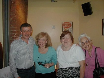 Tony, Amarone Proprietor, with Roberta, Marianne, Lois