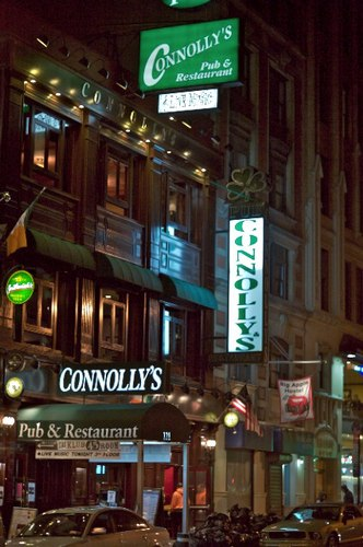 CONNOLLY'S on 45th Street, near Times Square Connolly's is a beautiful restaurant with a full bar, top of the line sound system, and an amazing sprung wooden dance floor — one of the best in NYC — a floor made for dancers!