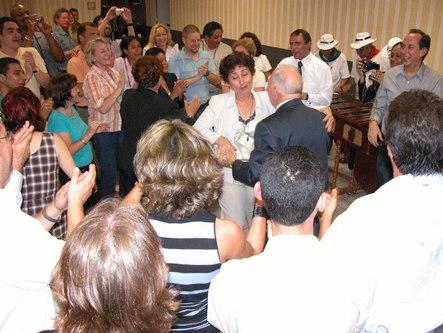 Dr. Novak dances in a Lindy style dance jam