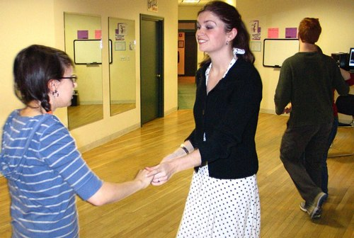 Christine McCarthy teaches a Commonwealth School student