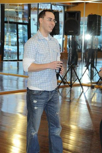 Anthony De Rosa teaching a West Coast Swing workshop at Bet U Can Dance on Saturday, April 4