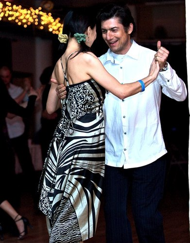 Dancing at the All Night Milonga at Stepping Out Studios