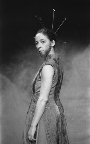Jeanne Mordoj of Cie Bal in 'Eloge du Poil' Photo courtesy Theatre de la Bastille