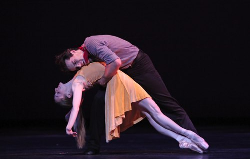 Houston Ballet's program: Of An Era Ballet: Carousel (A Dance) choreographed by Christopher Wheeldon Dancers: Sara Webb and Simon Ball