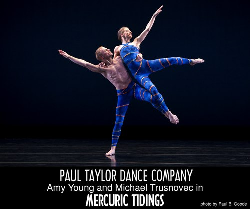 Paul Taylor Dance Company's Michael Trusnovec and Amy Young in <i>Mercuric Tidings</i>