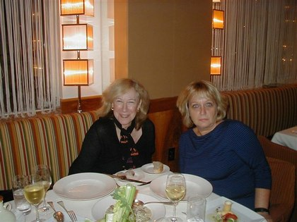 Roberta and Guest, Julienne Viola, of <a href='http://www.freedusa.com'>FREED of London</a>