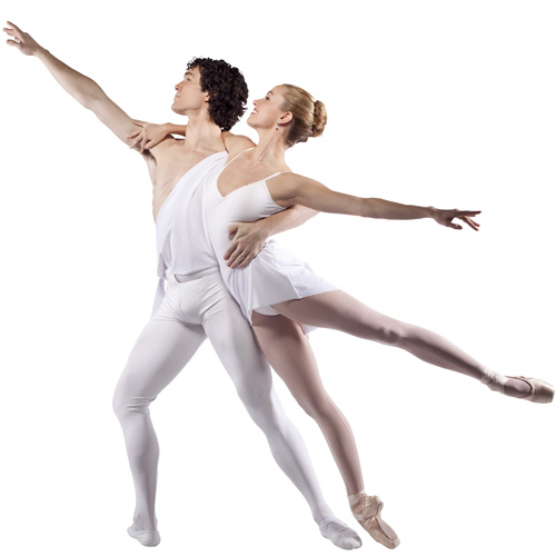 North Carolina Dance Theatre's David Ingram and Sarah James in Balanchine's 'Apollon Musagete'