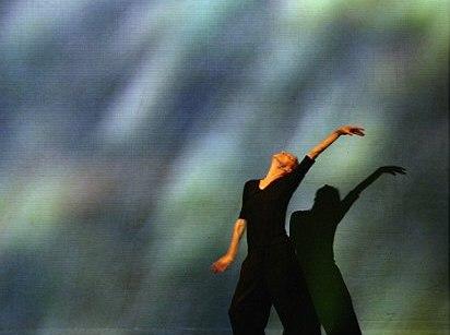 Pina Bausch in her solo in DANZON